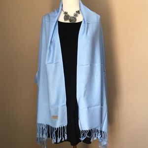 New gorgeous light blue pashmina